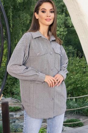 Рубашка Антея д/р. Цвет: серый