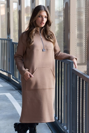 Платье Айсин д/р. Цвет: капучино