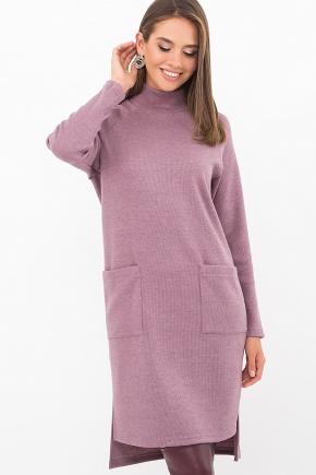 Платье Лакси д/р. Цвет: т. лиловый