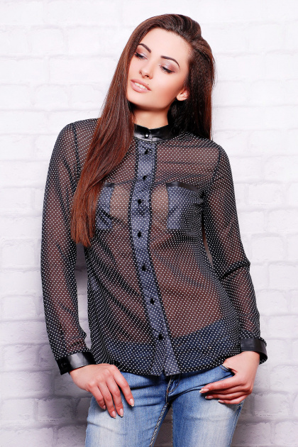 Блузка из кожи