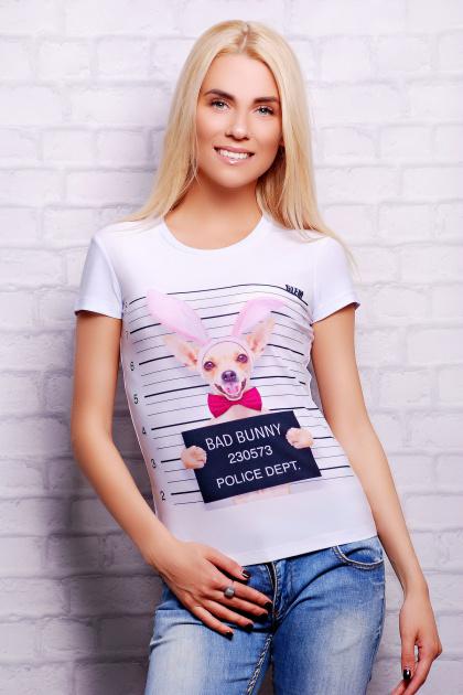 . Bunny Dog Футболка-2. Цвет: принт