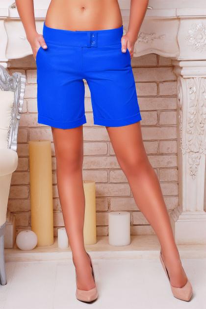 длинные классические женские шорты из трикотажной ткани. шорты Хилтон2 (длинные). Цвет: электрик