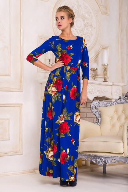 . платье Шарли2 д/р. Цвет: электрик-роза крупная