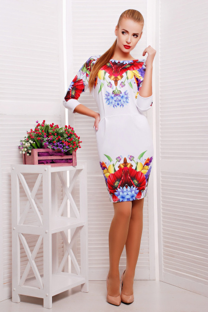 . Маки платье Эльза д/р. Цвет: принт
