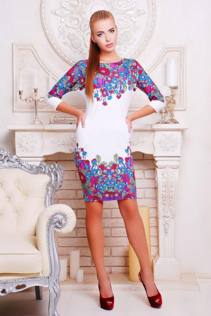 . Цветочки платье Эльза-2 д/р. Цвет: принт