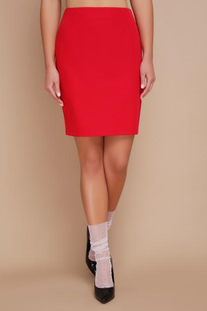 . юбка мод. №1. Цвет: красный