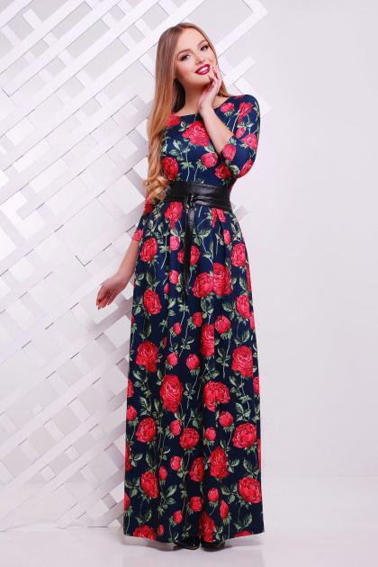 . платье Шарли д/р. Цвет: т.синий-роза Б