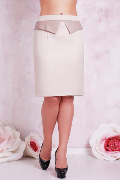 большая черная юбка с баской. юбка мод. №12 Б. Цвет: бежевый