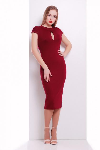 темно-синее женское платье по фигуре. платье Цезара б/р. Цвет: бордовый