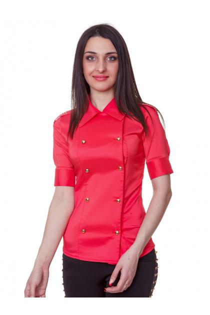 . блуза Эстель к/р. Цвет: коралл