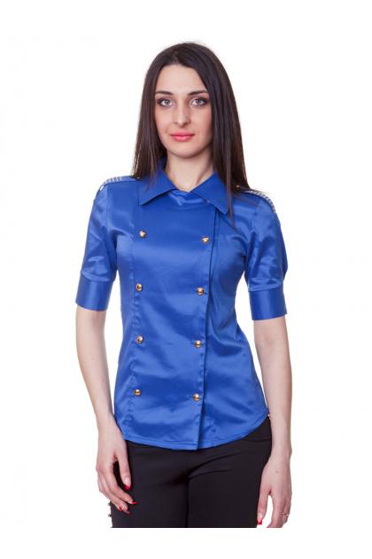 . блуза Эстель к/р. Цвет: синий