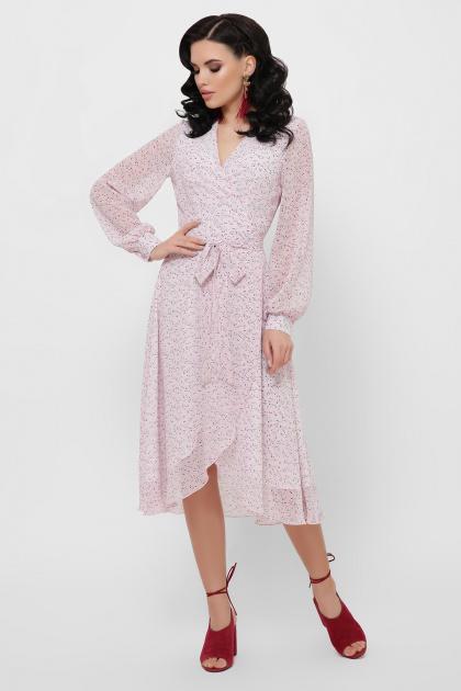 . Платье Алеста д/р. Цвет: розовый-цветы м.