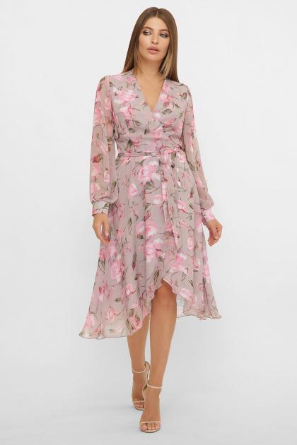 . Платье Алеста д/р. Цвет: капучино-розы розов.