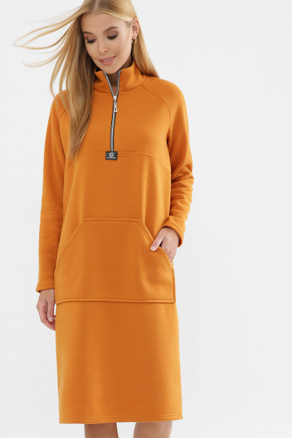 . Платье Айсин д/р. Цвет: горчица