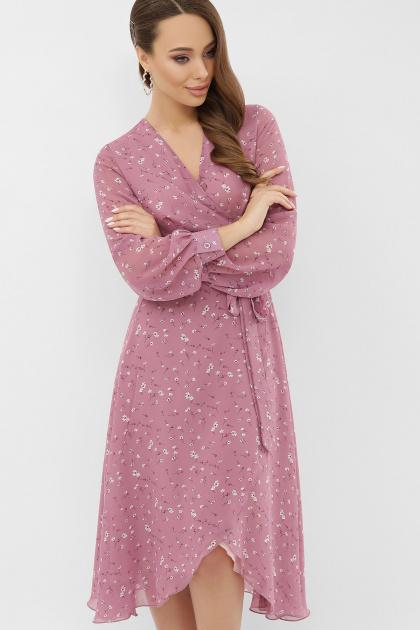 . Платье Алеста д/р. Цвет: лиловый-белый цветок