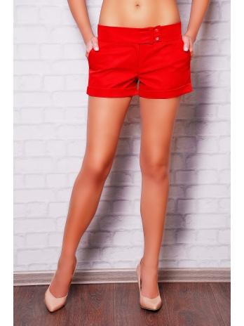 Женские короткие классические шорты. шорты Хилтон2 (короткие). Цвет: красный