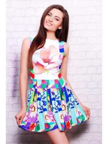 . Цветочная абстракция платье Мия-2 б/р. Цвет: принт