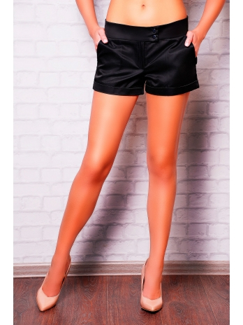 Женские короткие классические шорты. шорты Хилтон2 (короткие). Цвет: черный