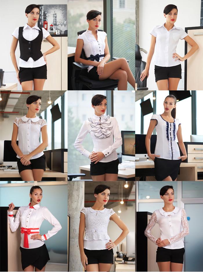 Белые блузки для школы
